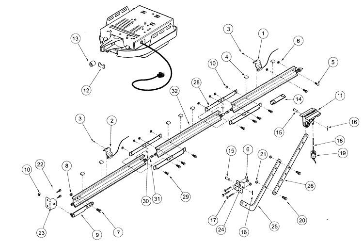 Genie Excelerator Pro Rail Parts