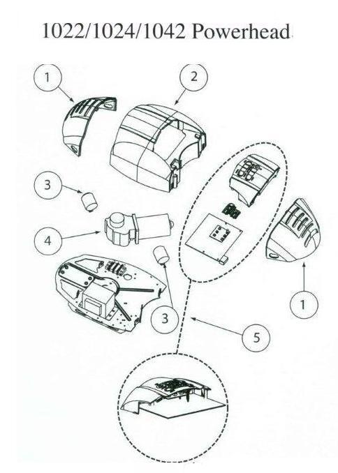 Genie 1042, 1024 and 1022 Garage Door Opener Parts