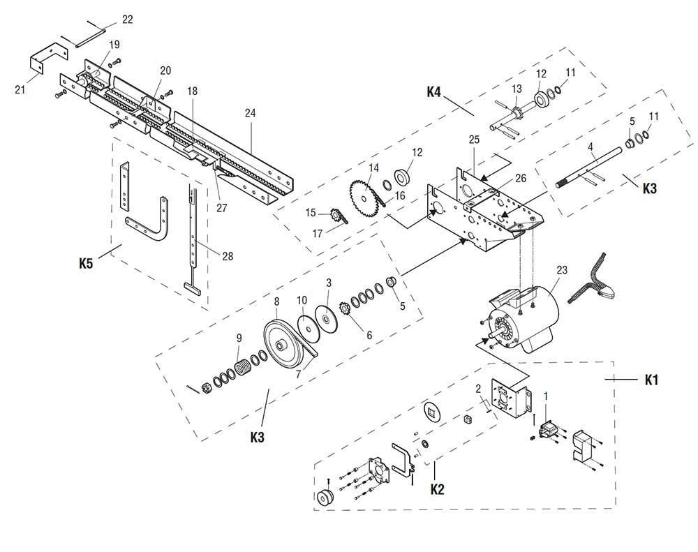 Garage Door Parts by Interactive Diagram