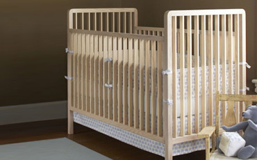 eco friendly baby cribs in dark wood free shipping
