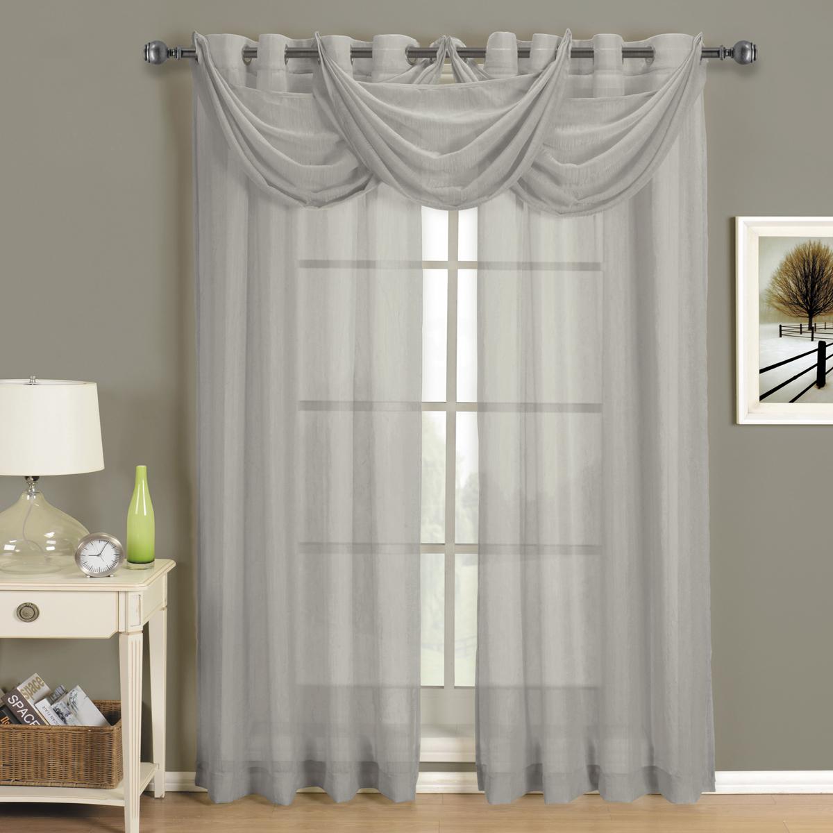Abri Grommet Crushed Sheer Curtain Panel