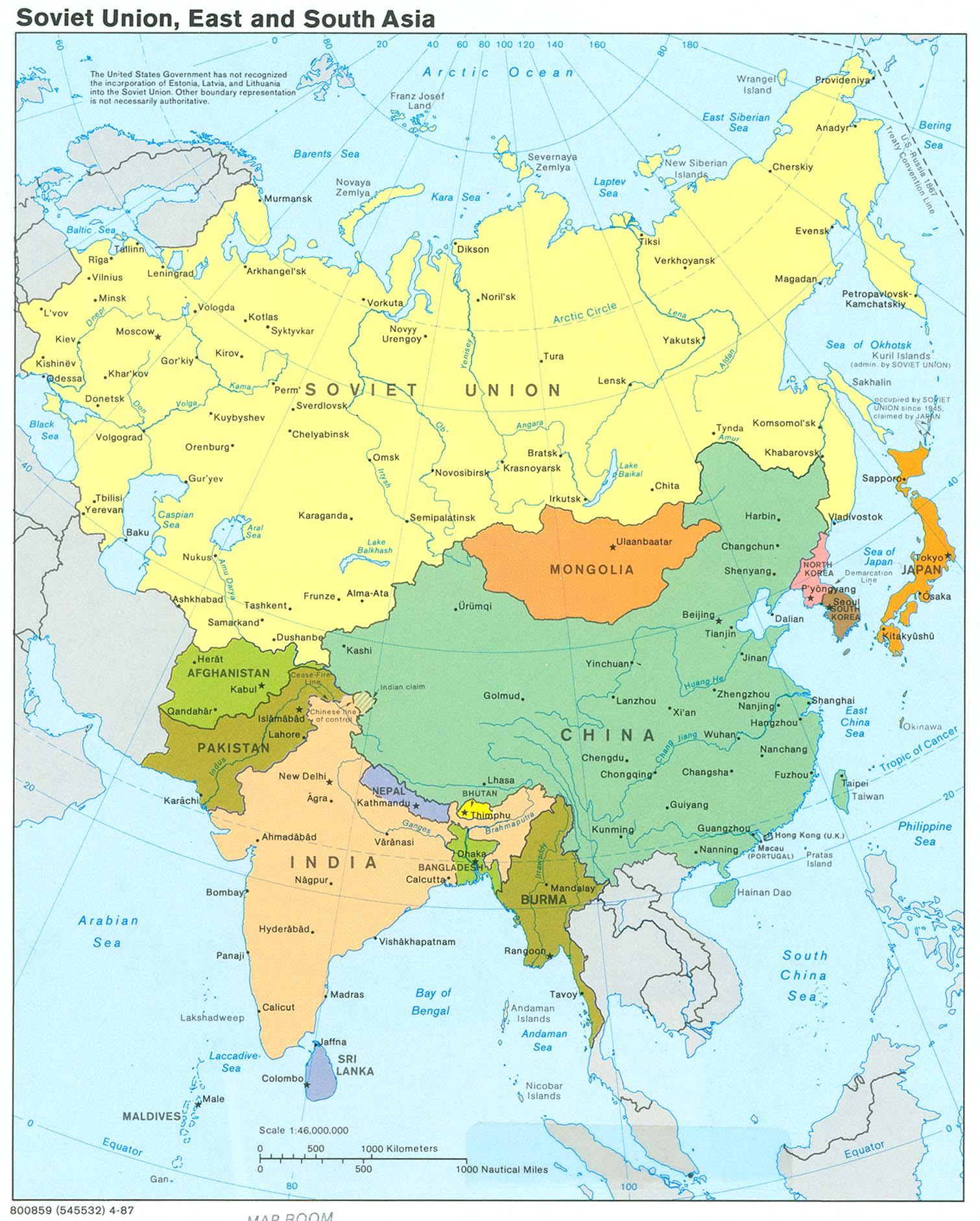 Russia And Eurasian Republics Map : russia, eurasian, republics, GEOGRAPHY