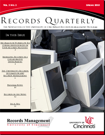 Records Quarterly, Spring 2010