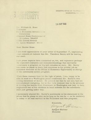 Letter from Sargent Shriver