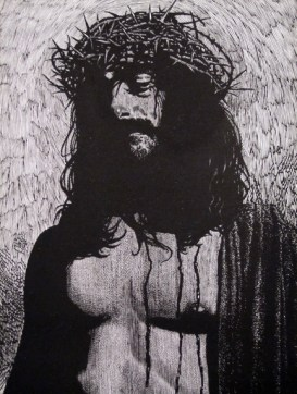 Drawing of Jesus from the Moser Bible