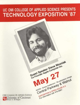 UC OMI College of Applied Science poster for Wozniak appearance