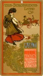 March 1902 Calendar Card