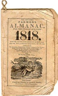 Almanac from 1818