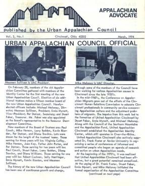 Appalachian Advocate Newsletter