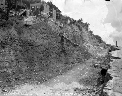 Construction through hill