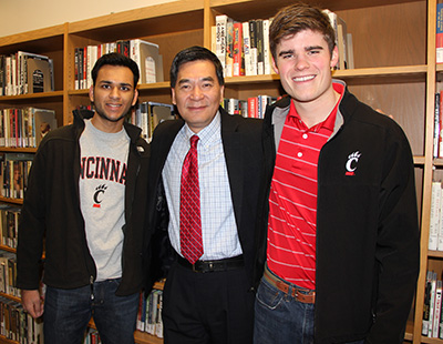 students with dean