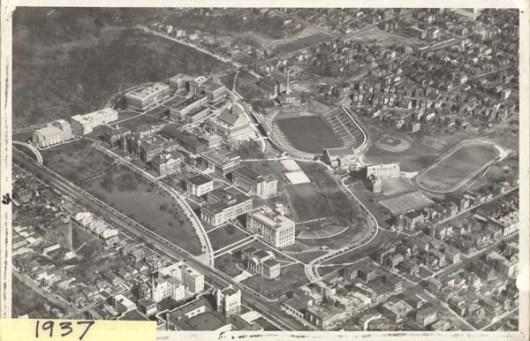 Aerial Photo of Campus, 1937