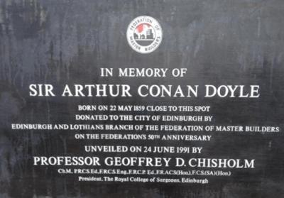 Plaque dedicated to Doyle