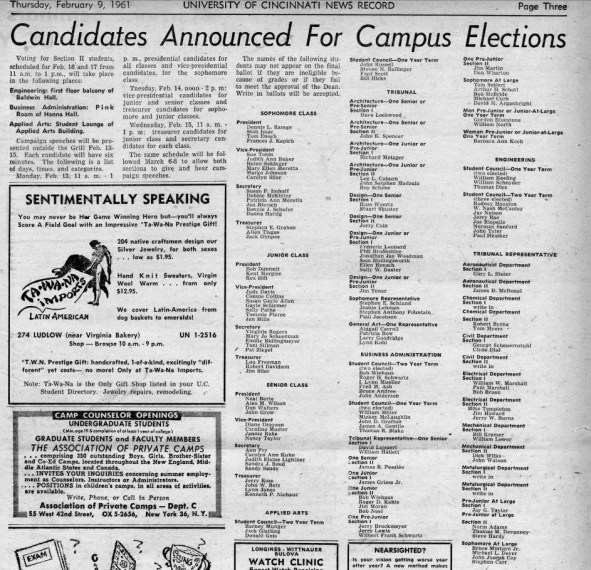 Candidates Announce Elections