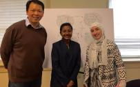 Photo2_From left Nan Niu, Payel Basak, and Nesrin Hussein