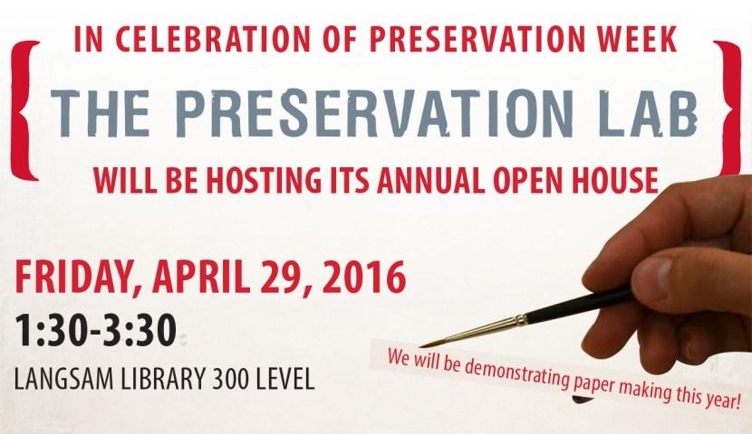 Preservation Week Flyer
