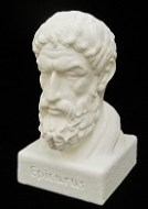 Our recently acquired bust of Epicurus (341-270 BC)