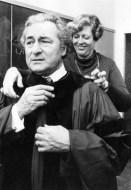 Inauguration of Dr. Winkler as President, with Arlene Thorwa, 1978. Image courtesy of Archives & Rare Books, University of Cincinnati.