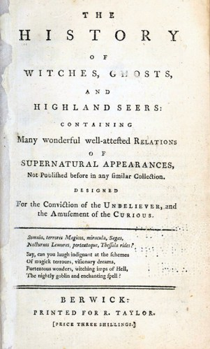 Title page - The History of Witches, Ghosts, and Highland Seers