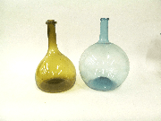 Assorted 19th-century round-bottom wine flasks from the Oesper Collections