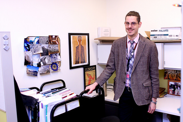 Christian Boyles standing in his office.
