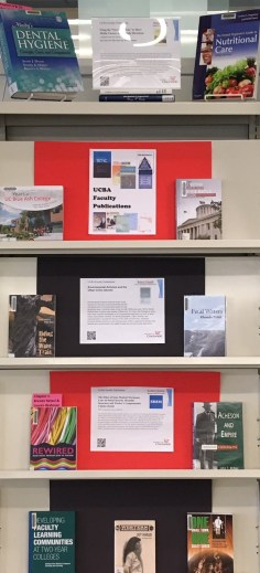 Faculty publications book display