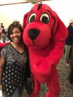 Michelle and Clifford the Big Red Dog