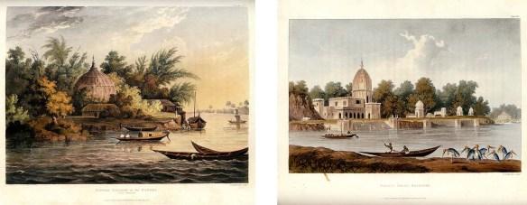 Plates showing Hindoo Village and Khanpore