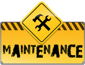closed for maintenence sign