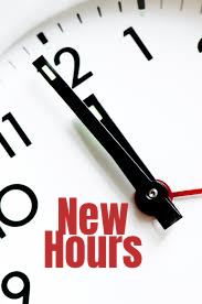 New Hours graphic