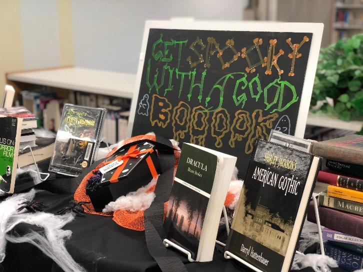 Spooky Book Display
