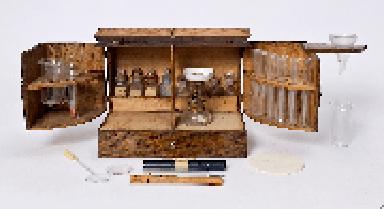 A circa 1900 Pilling testing kit for urine analysis