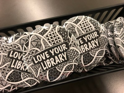 library buttons