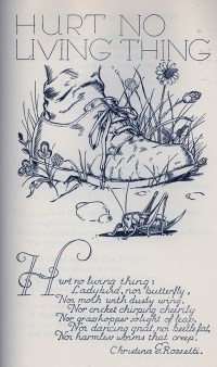 Hurt No Living Thing by Christina Rossetti