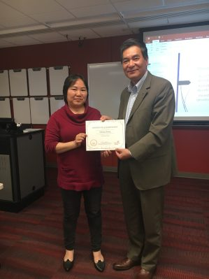 Visiting Librarian Sophie Zhang and Dean Xuemao Wang