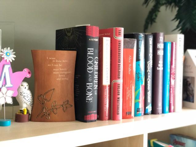 Books between bookends.