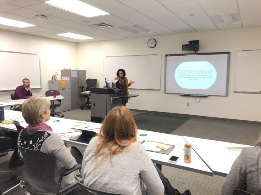 Professor Carla Cesare giving a presentation