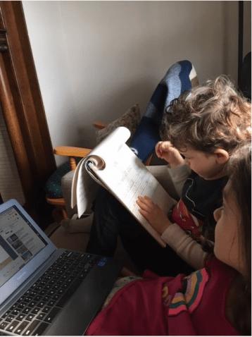 children doing schoolwork