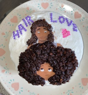 hair love edible cake