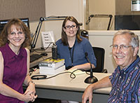 Photo of Tracy Maras, Lydia Howes, and  Dr. ________ while recording the podcast.