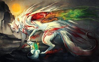 mythical creatures okami boy sakimichan were wolf japanese spirit wish mythology creature anime fire myth fox wolfs kitsune goddess gorgeous
