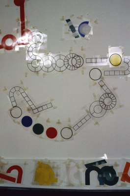 Detail of the game board pieces