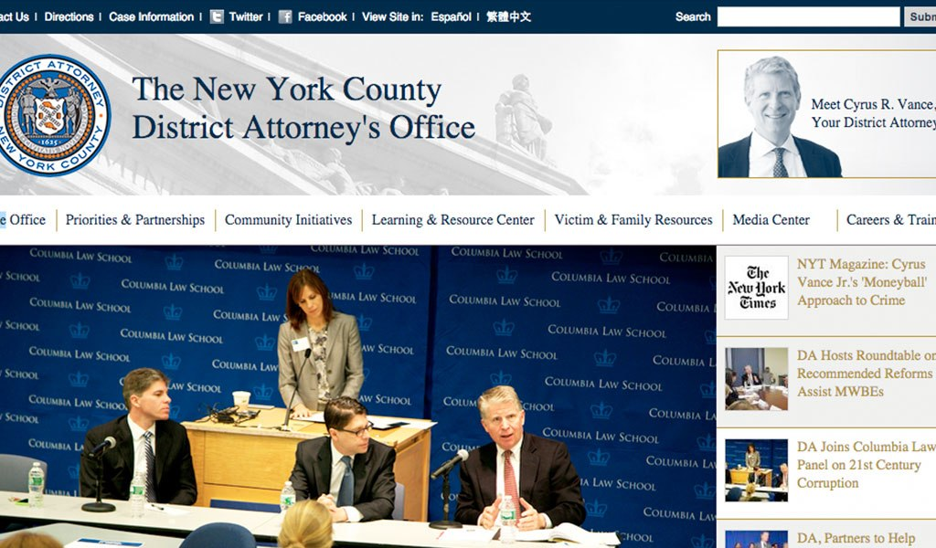 The New York County District Attorney's Office