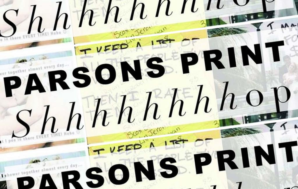 Parsons Pop Up Print Show