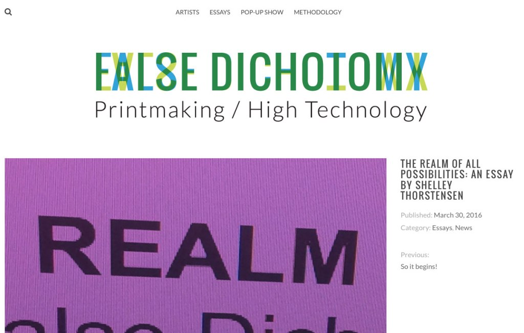 False Dichotomy: Official Launch
