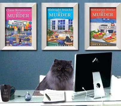Figaro at his desk