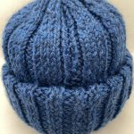 Hand-kit one-off beanie in Blue