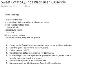 Sweet Potato Quinoa Black Bean Casserole recipe