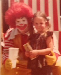 Plibby with Ronald McDonald 1978
