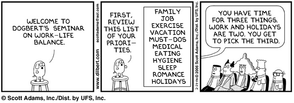 Dilbert work life balance comic strip